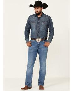 Wrangler Retro Men's Colorado Stretch Slim Bootcut Jeans , Blue, hi-res