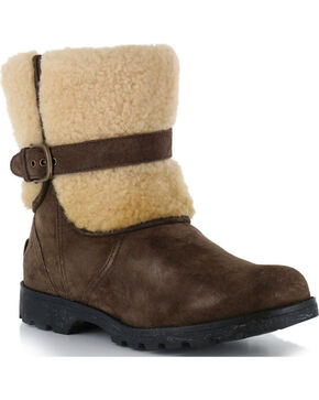 UGG Women's Espresso Blayre II Boots - Round Toe , Dark Brown, hi-res