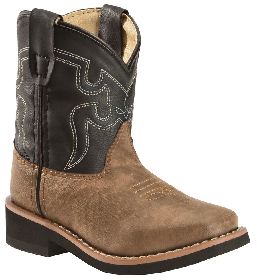 Swift Creek Toddlers Western Boots - Square Toe , Brown, hi-res