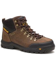 Caterpillar Men's Threshold Waterproof Work Boots - Steel Toe, Brown, hi-res