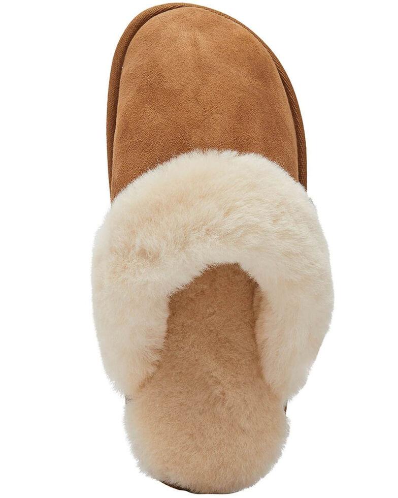 Lamo Footwear Women's Scuff Doubleface Slippers, Chestnut, hi-res
