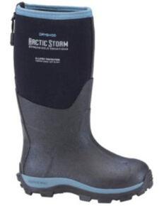 Dryshod Boys' Blue Arctic Storm Rubber Boots - Soft Toe, Black/blue, hi-res