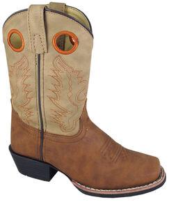 Smoky Mountain Boys' Memphis Western Boots - Square Toe, Tan, hi-res