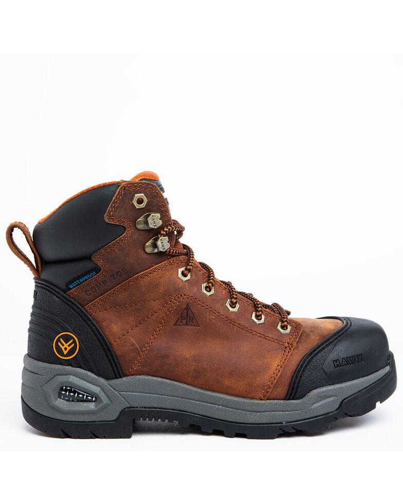 Hawx Men's Rust Waterproof Work Boots - Soft Toe, Rust Copper, hi-res