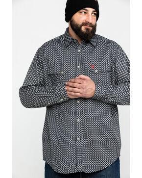 Ariat Men's FR Fulmar Print Snap Long Sleeve Work Shirt - Tall , Black, hi-res