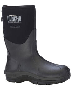 Dryshod Men's MID Dungho Barnyard Tough Boots, Black, hi-res