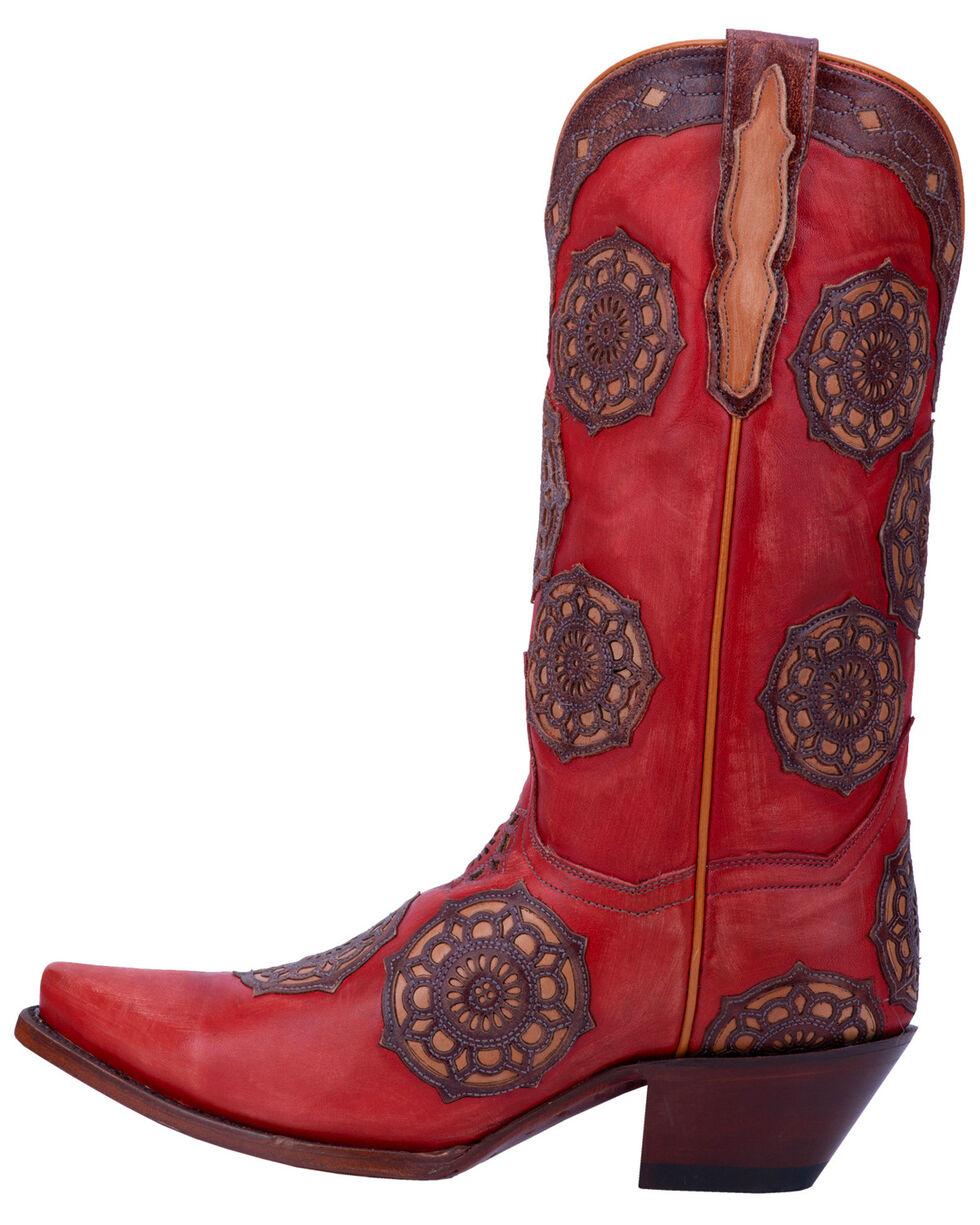 Dan Post Women's Circus Flower Western Boots - Snip Toe, , hi-res