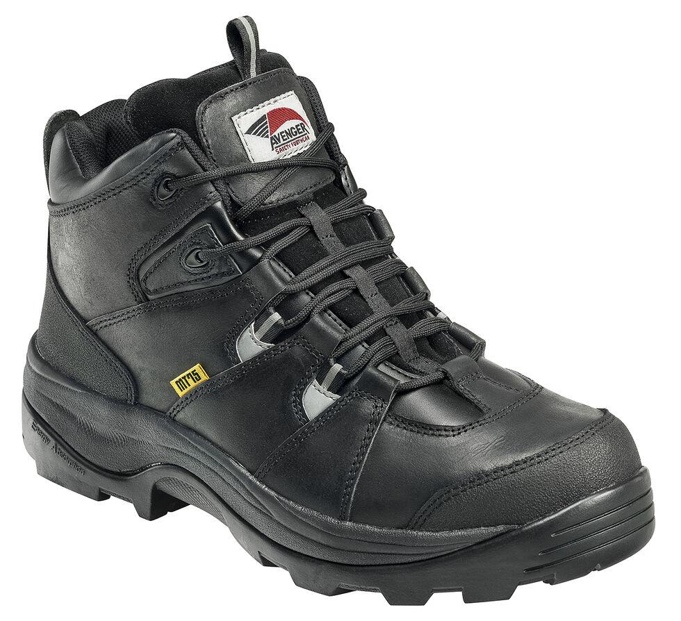 Avenger Men's Work Boots - Steel Toe, Black, hi-res