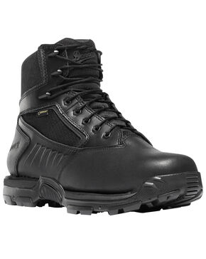 "Danner Men's Black Striker Bolt 6"" Work Boots - Round Toe , Black, hi-res"