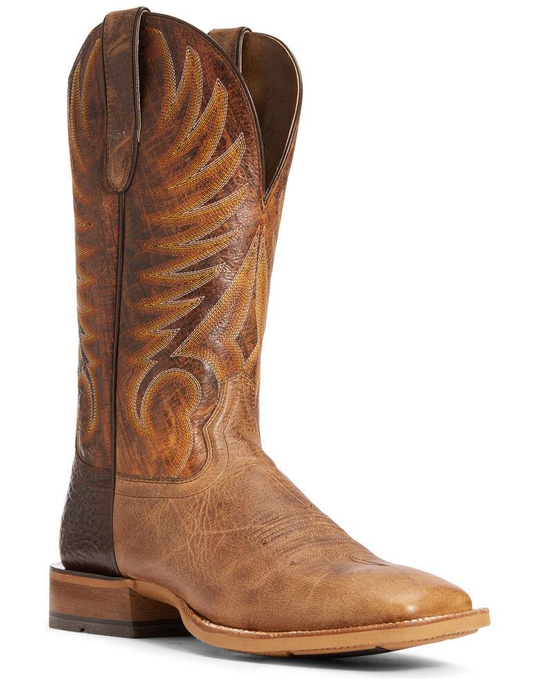 Ariat Men's Toledo Crunch Western Boots - Wide Square Toe, Brown, hi-res