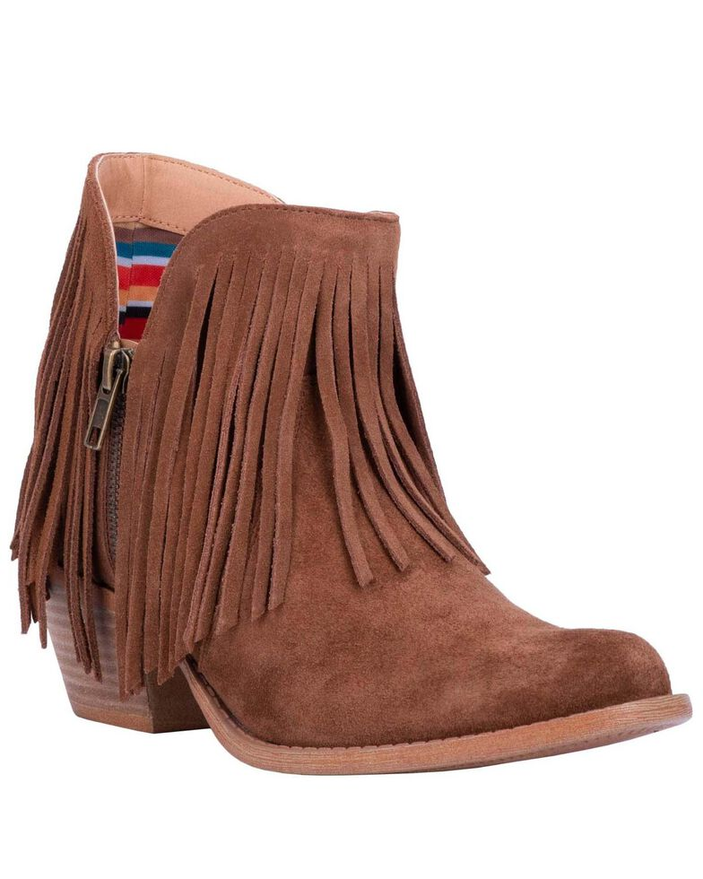 Dingo Women's Jerico Fashion Booties - Round Toe, Brown, hi-res