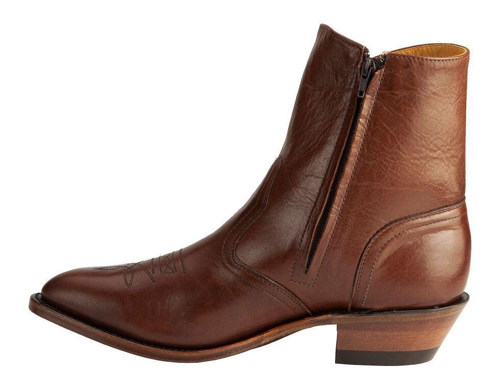 Boulet Men's Side-Zip Western Boots - Medium Toe, Tan, hi-res