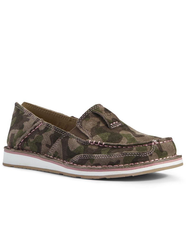 Ariat Women's Camo Cruiser Shoes - Moc Toe, Multi, hi-res