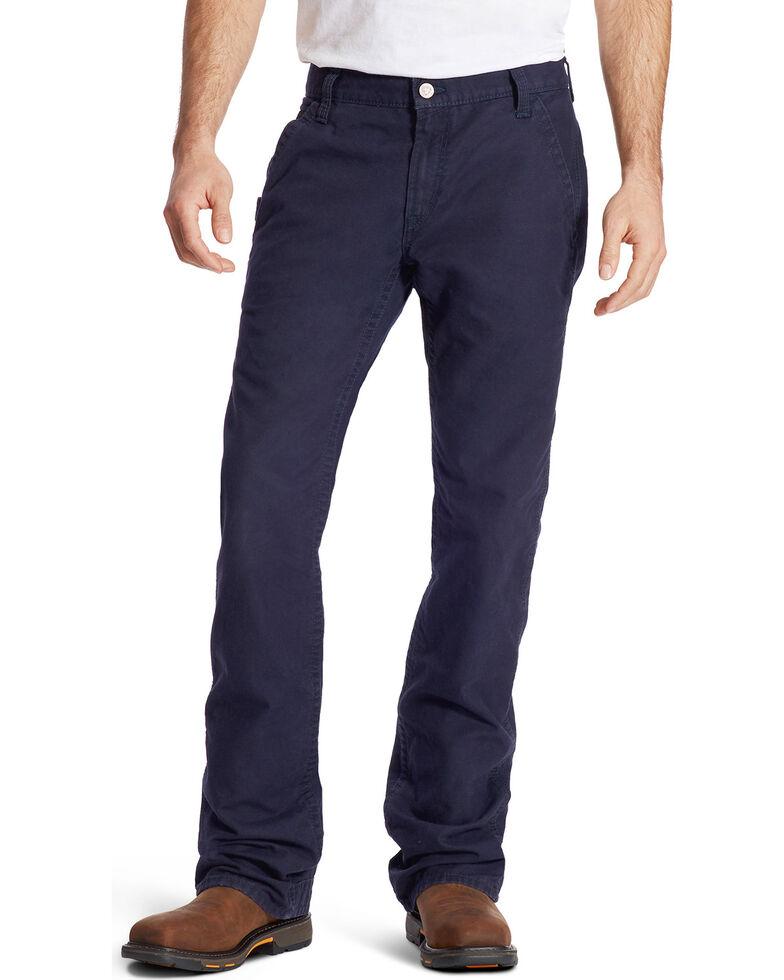 Ariat Men's FR M4 Navy Workhorse Jeans - Boot Cut, Navy, hi-res