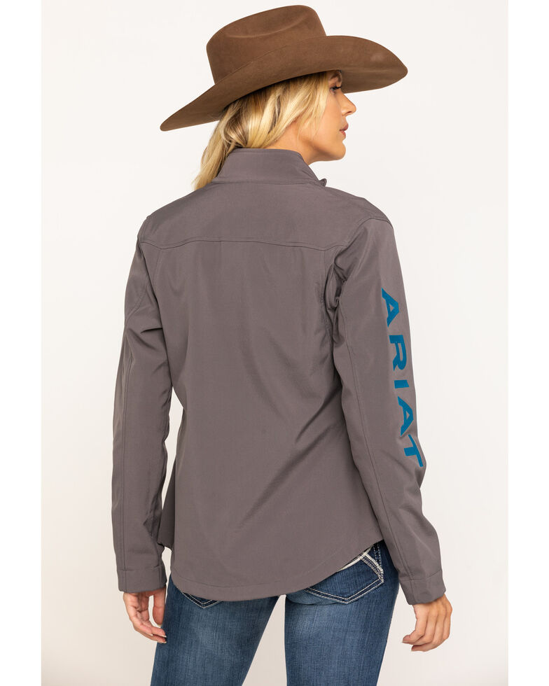 Ariat Women's Grey New Team Softshell Jacket , Grey, hi-res