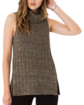 Others Follow Women's Charcoal Everly Sweater , Charcoal, hi-res