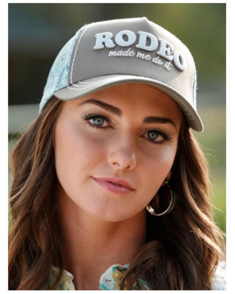 Cruel Girl Women's Rodeo Made Me Do It Mesh-Back Trucker Cap , Brown, hi-res