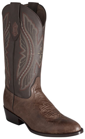 Ferrini Men's Brown Kangaroo Western Boots - Round Toe, Chocolate, hi-res