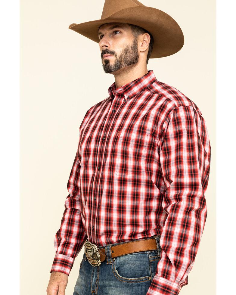 Ariat Men's Impala Plaid Long Sleeve Western Shirt , Red, hi-res