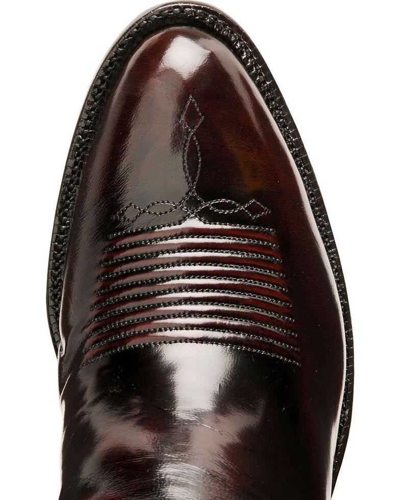 Lucchese Classics Seville Goatskin Boots - Medium Toe, Black Cherry, hi-res