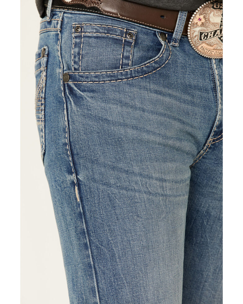 Rock 47 By Wrangler Men's Remix Light Stretch Slim Straight Jeans , Blue, hi-res