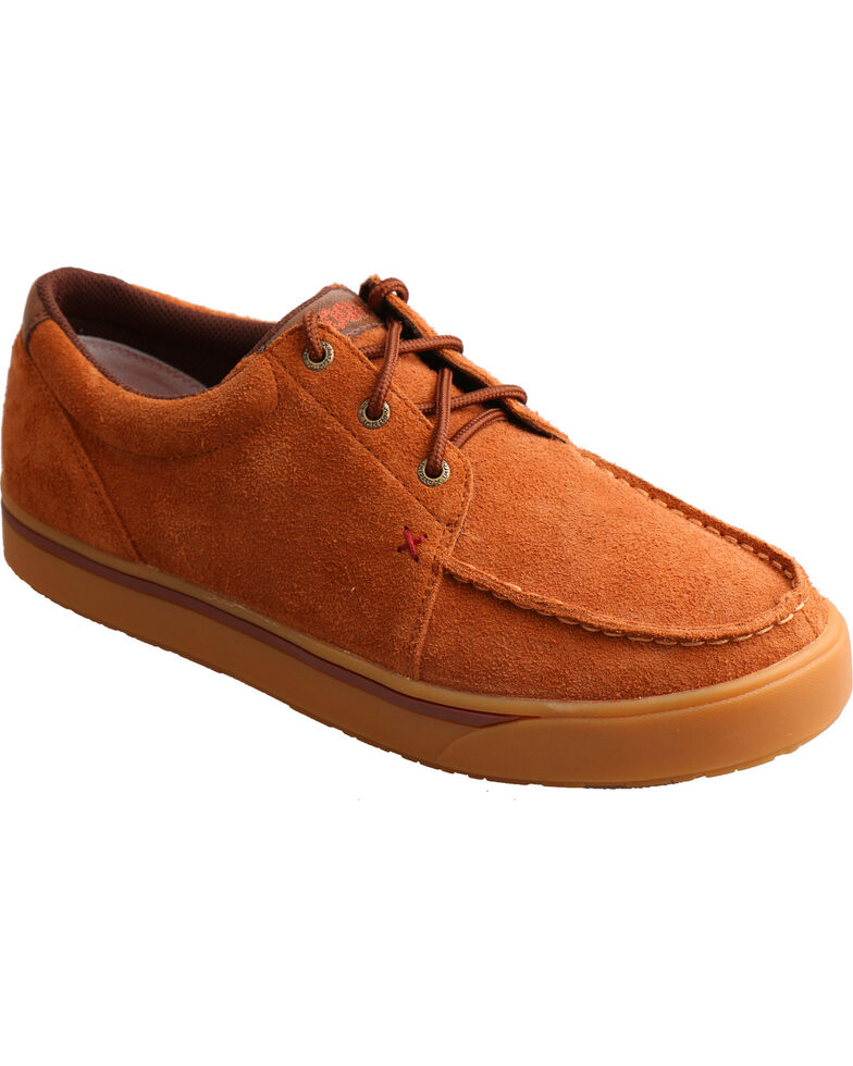 Twisted X Men's HOOey Loper Rough Out Casual Shoes - Moc Toe, Brown, hi-res