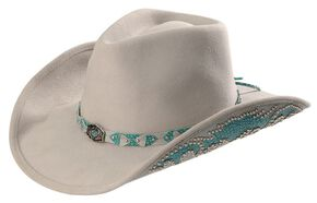 1532f8e662fe01 Bullhide Grey Natural Beauty Wool Cowgirl Hat