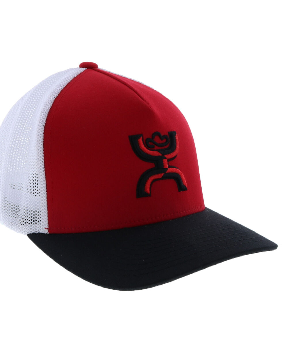 HOOey Men's Coach Ball Cap , Red, hi-res
