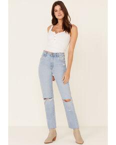 Rolla's Women's High Rise Original Straight Leg Jeans, Blue, hi-res