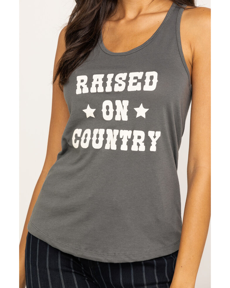 Ali Dee Women's Charcoal Raised On Country Tank Top, Charcoal, hi-res
