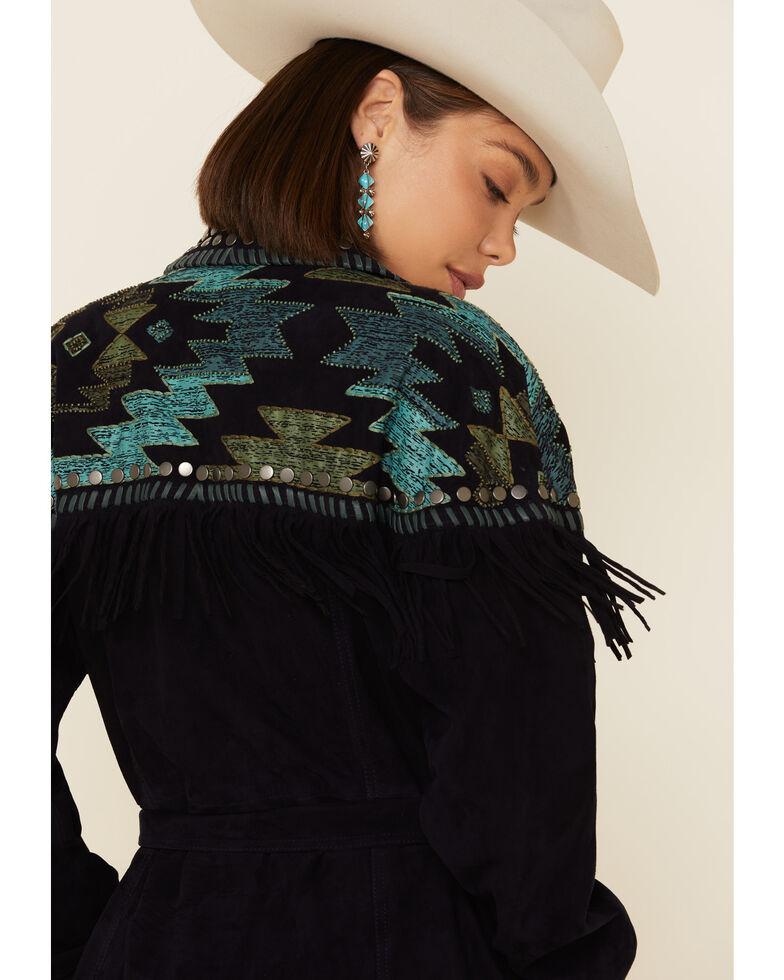 Double D Ranch Women's Paseo Del Pueblo Jacket, Blue, hi-res