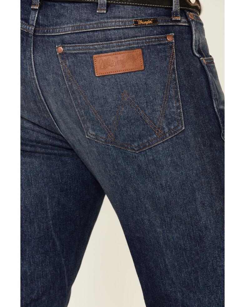Wrangler Retro Premium Men's Republic Dark Stretch Slim Bootcut Jeans , Blue, hi-res