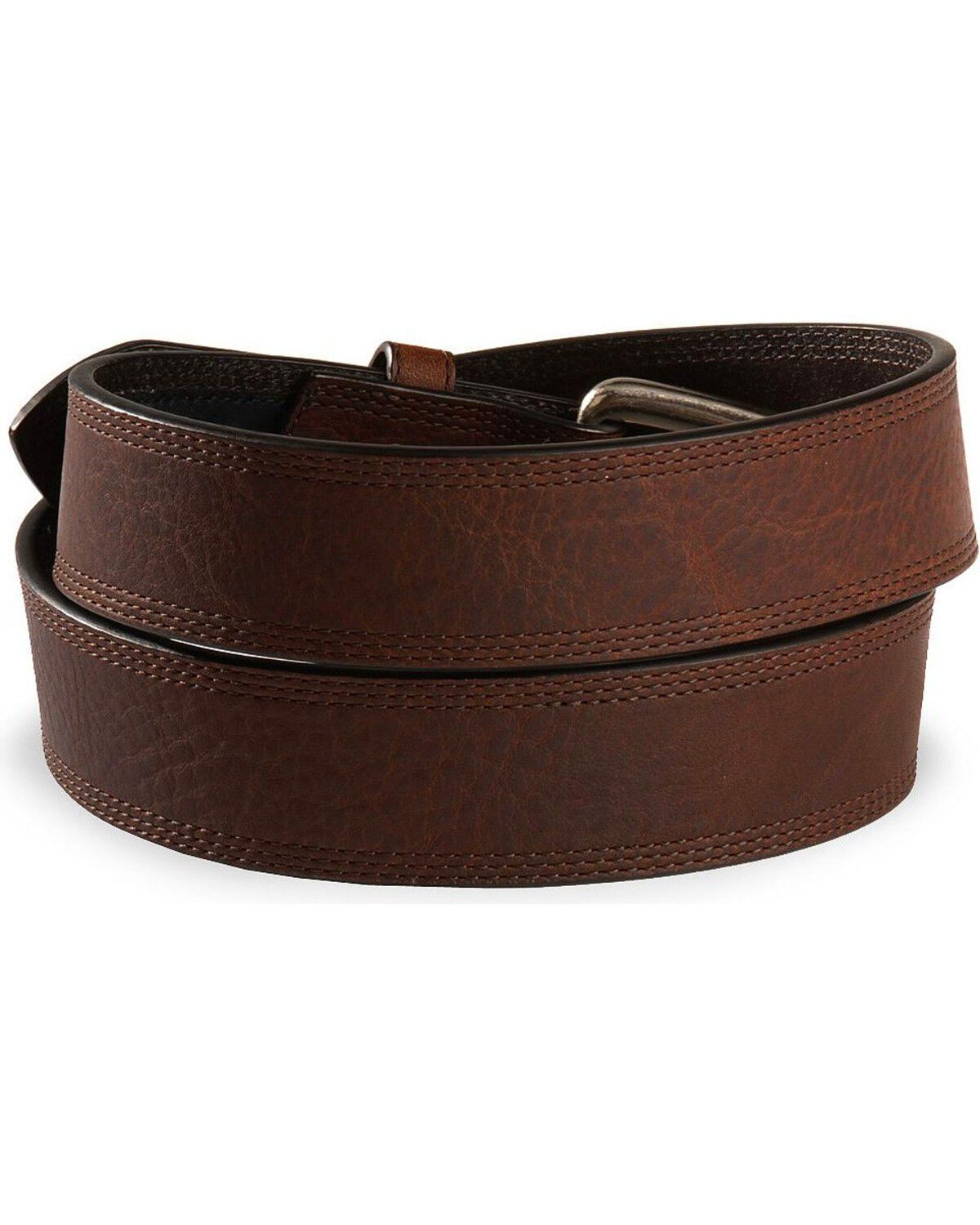 Reg and Big K204080 Ariat Triple Stitched Leather Belt