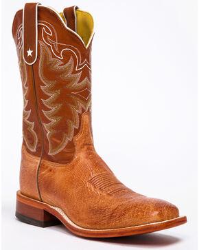 Tony Lama San Saba Vintage Smooth Quill Ostrich Cowboy Boots - Square Toe, Cognac, hi-res