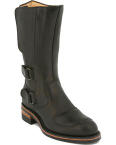 Chippewa Motorcycle Boots, Black, hi-res