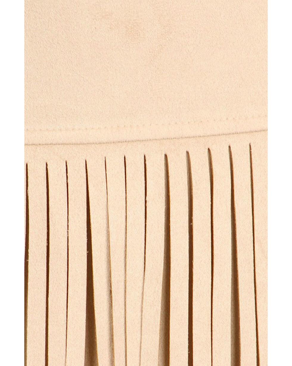 Freeway Apparel Women's Tan Long Fringe Skirt, Cream, hi-res