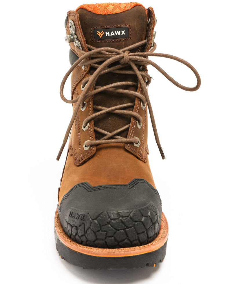 Hawx Men's Legion Work Boots - Steel Toe, Brown, hi-res