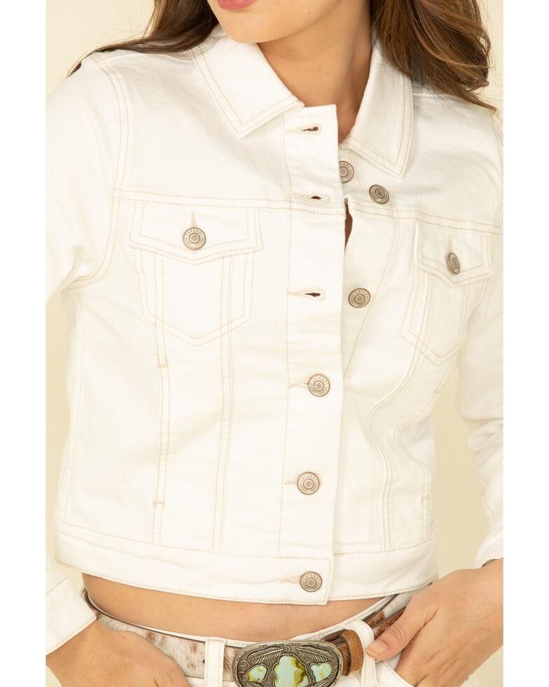 Shyanne Life Women's Ivory Fashion Denim Jacket, Ivory, hi-res