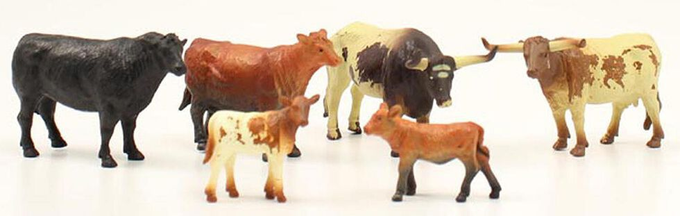 Kids' Toy Cow Figures - Set of 6, Assorted, hi-res