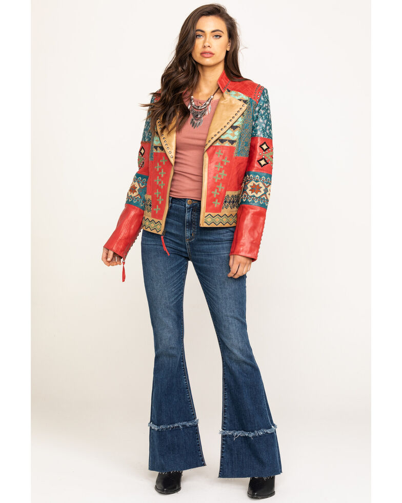Double D Ranch Women's Dark Roughneck Red Blowout Jacket, Red, hi-res