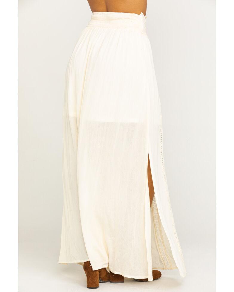 Shyanne Women's Tie-Off Corset Maxi Skirt , Ivory, hi-res