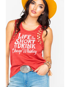 57795fbda393d Rock   Roll Cowgirl Women s Life Is Too Short Graphic Tank