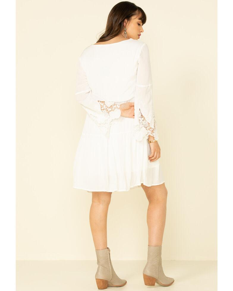 Joseph Studio Women's White Embroidered Bell Sleeve Dress , White, hi-res