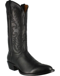 Cody James Men's Smooth Black Western Boots - Medium Toe, Black, hi-res