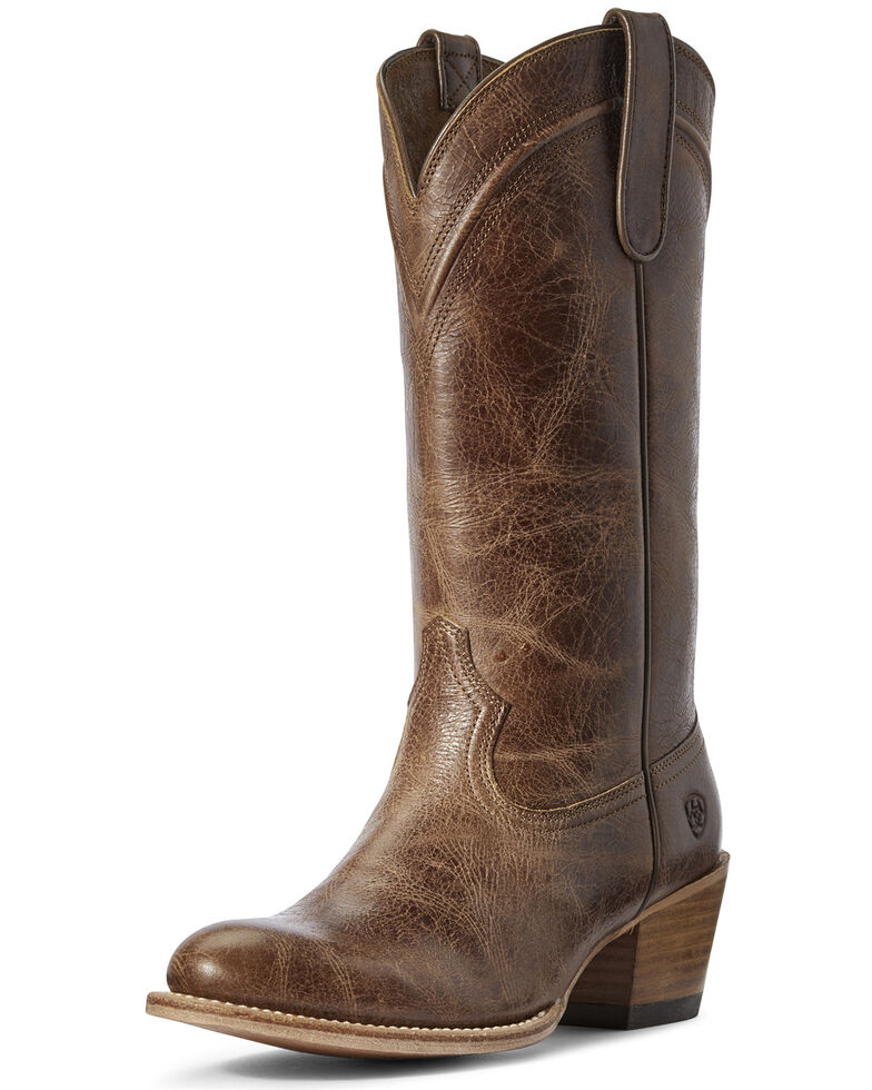 Ariat Women's Desert Paisley Western Boots - Round Toe, Brown, hi-res