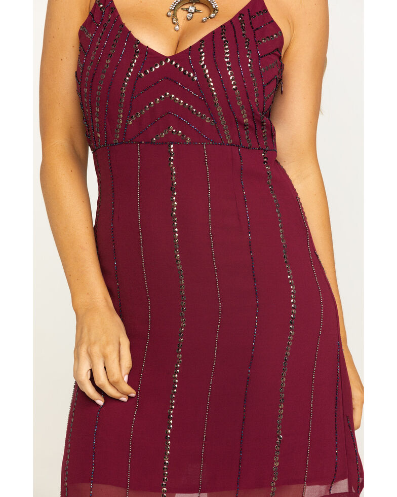 Idyllwind Women's Wine Like What You See Sequin Dress, Wine, hi-res