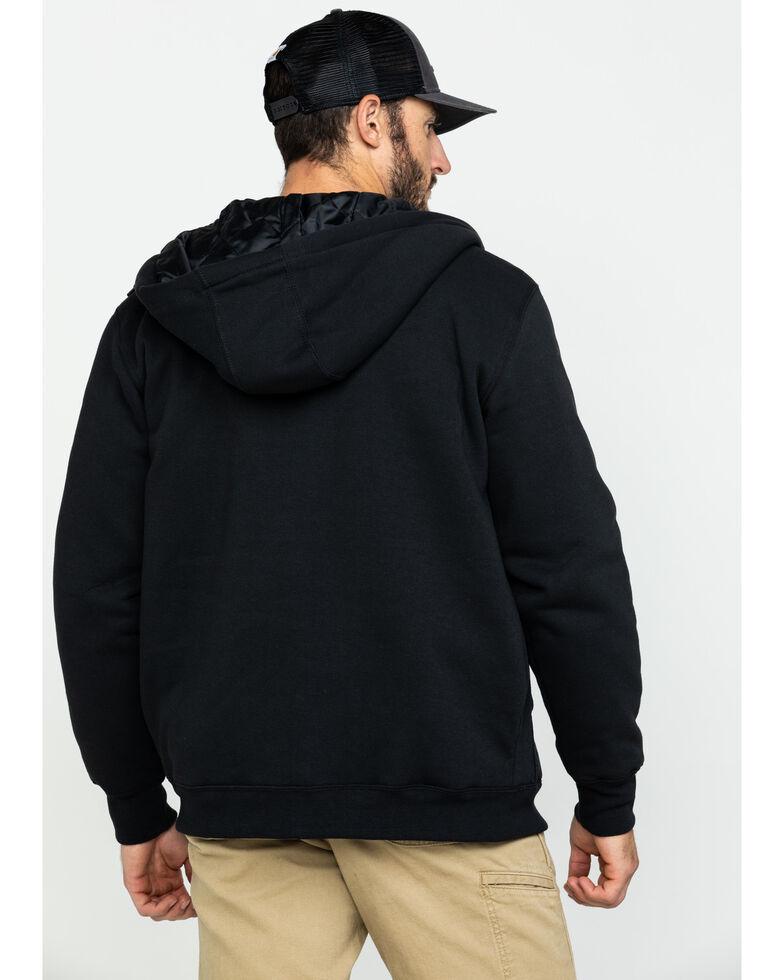 Carhartt Men's Midweight Hooded Zip-Front Work Sweatshirt - Tall , Black, hi-res