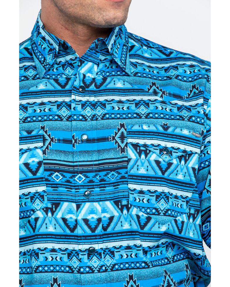 Tin Haul Men's Aztec Print Long Sleeve Western Shirt , Blue, hi-res