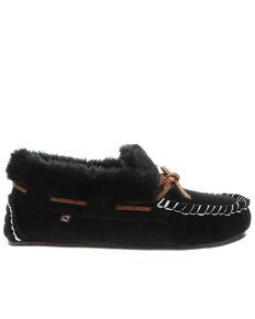 Lamo Footwear Women's Mila Slippers - Moc Toe, Black, hi-res