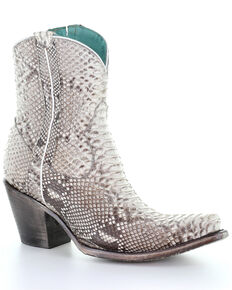 Corral Women's Python Western Booties - Snip Toe, Python, hi-res